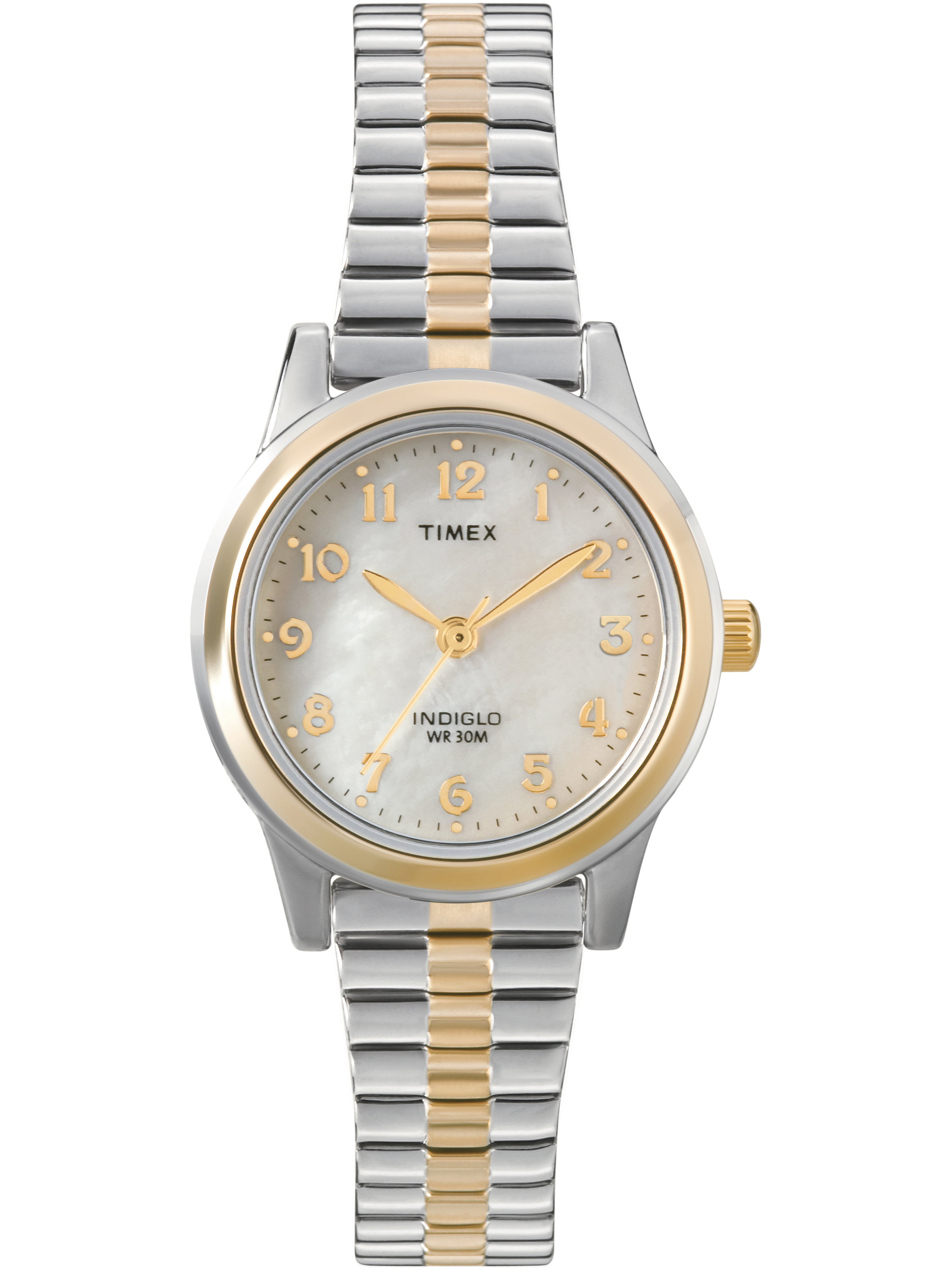 Timex Women's Essex Avenue Watch, Two-Tone Extra Long Stainless Steel Expansion Band by Timex