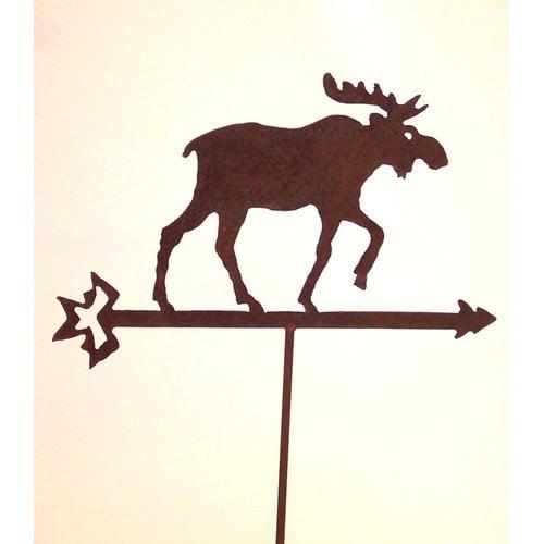 Z Garden Party Moose on Arrow Garden Stake