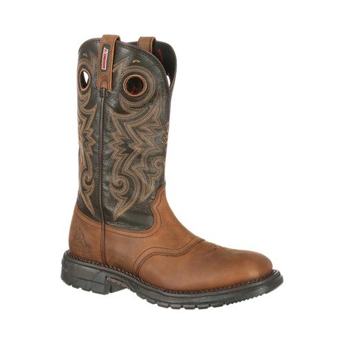 "Men's Rocky 12"" Original Ride Western Saddle Boot RKW0144 by Rocky"