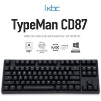iKBC CD87 v2 Mechanical Keyboard with Cherry MX Brown Switch for Windows and Mac, Full Size Ergonomic Keyboard with PBT Double Shot Keycaps for Desktop, 87-Key, Black, ANSI/US