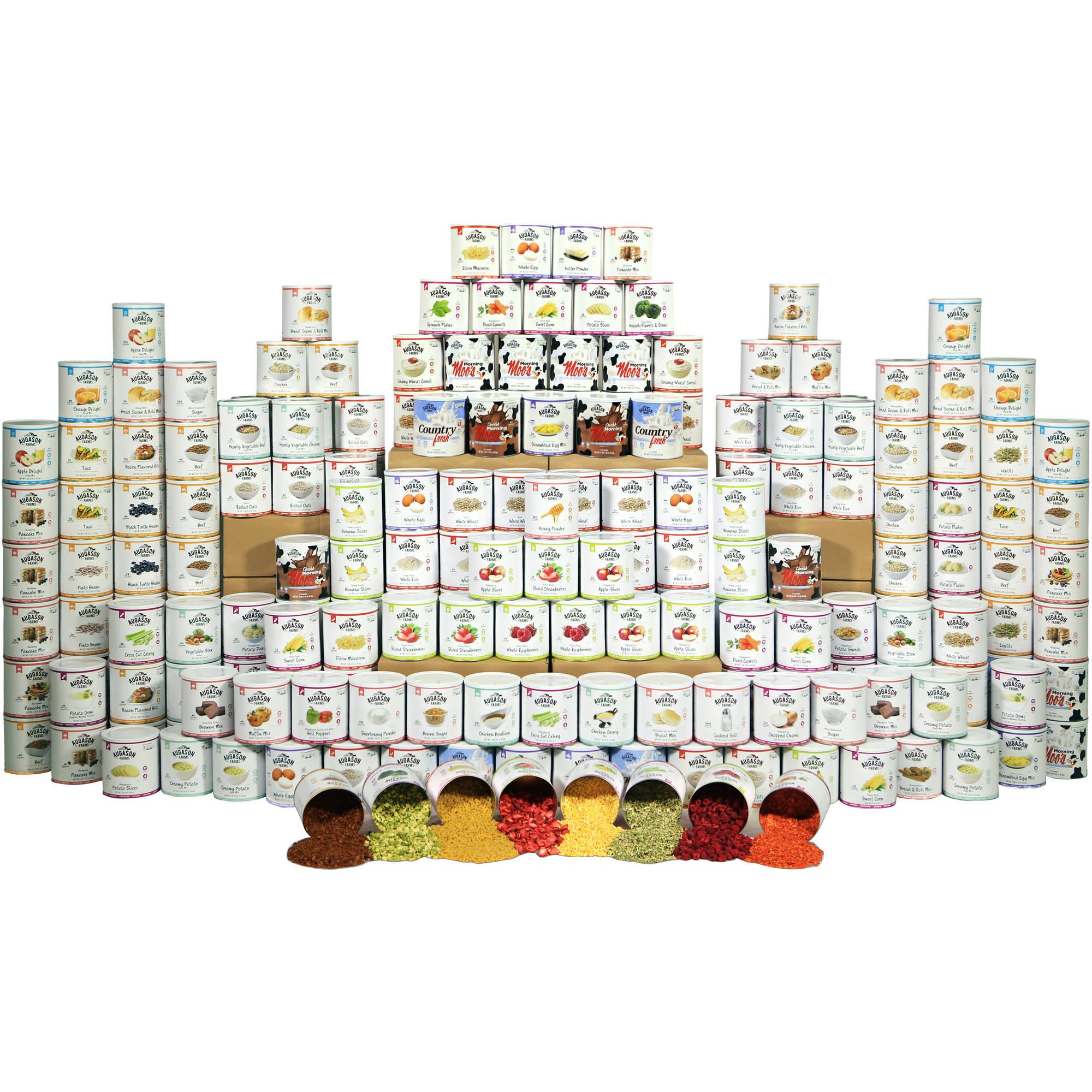Augason Farms Emergency Food Premium 4 Person 1 Year Food Storage Kit