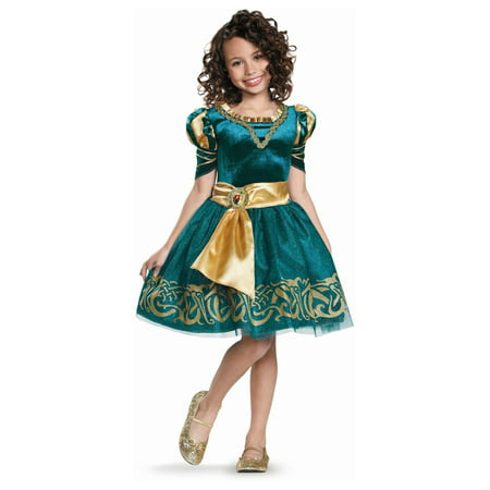 Merida Classic Disney Girls Costume