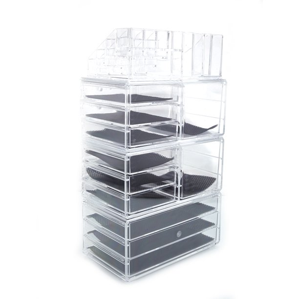 Clear Acrylic Makeup Organizer Box With