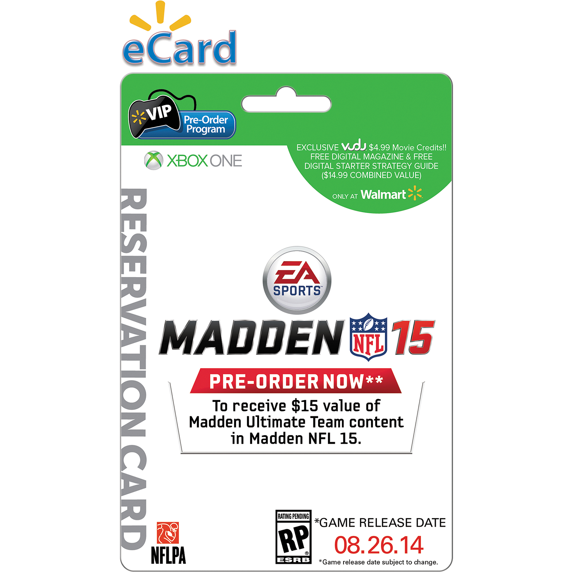 Madden 15 Xbox One (e-mail Delivery) Wal