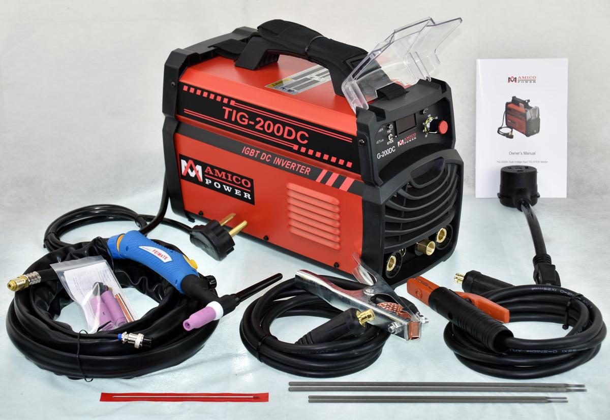 TIG-200 Amp TIG Torch Stick Arc DC Welder 110V & 230V Dual Voltage Welding Machine by Amico Power