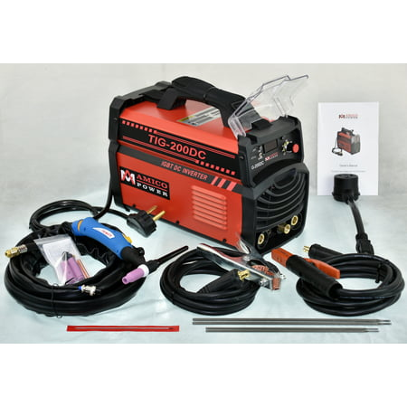 Amico Power TIG-200 Amp TIG Torch Stick Arc DC Welder 110V & 230V Dual Voltage Welding (Esab Tig Welder)