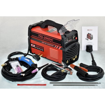 Amico Power TIG-200 Amp TIG Torch Stick Arc DC Welder 110V & 230V Dual Voltage Welding Machine