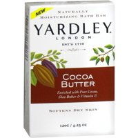 Yardley Moisturizing Bar Cocoa Butter 4.25 oz