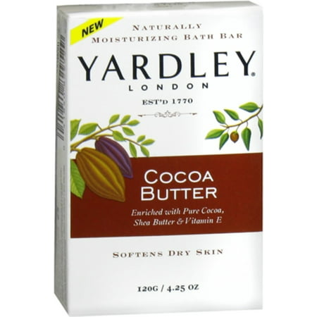 Yardley Moisturizing Bar Cocoa Butter 4.25 oz