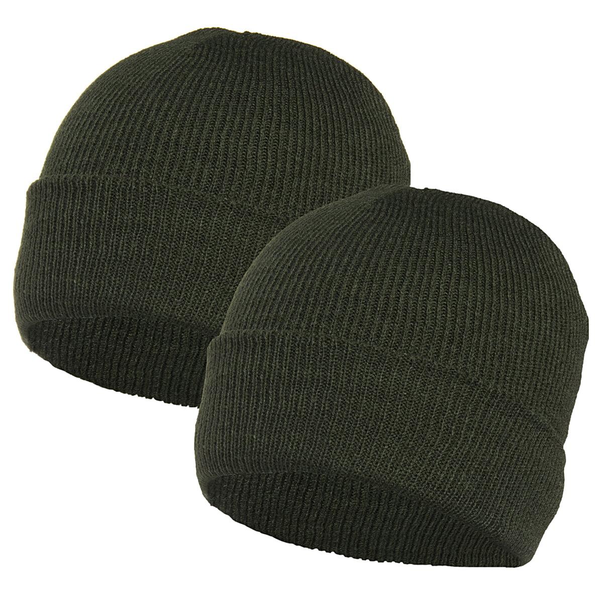 2b4e64113 2 pack Igloo Winter Ski Hats Acrylic Knit Beanie Caps Men Women Unisex  Black Gray Green
