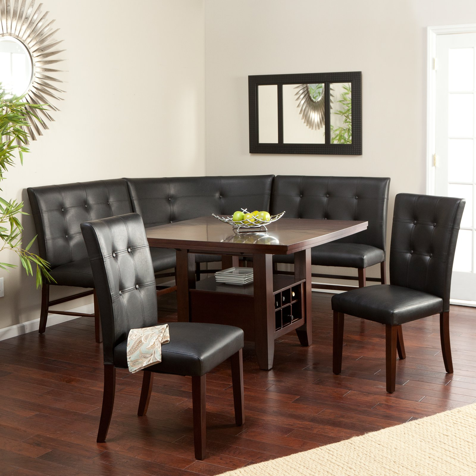Mainstays forest hills 5 piece dining set red walmart com