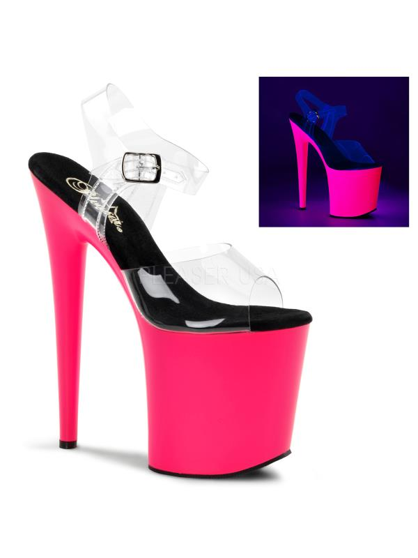 FLAM808UV/C/NP Pleaser Platforms Exotic Dancing Specialty Shoes Size:7