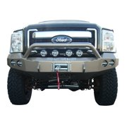 11-C FORD SUPER DUTY FRONT STEALTH WINCH BUMPER, PRE-RUNNER GUARD, SATIN BLACK
