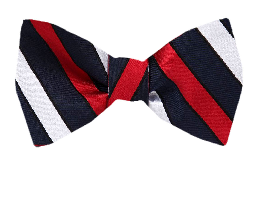 Bow Tie Mens NEW Bowtie Adjustable Dickie TWO TONE BLACK BRIGHT RED