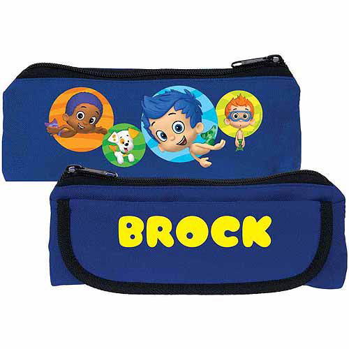 Personalized Bubble Guppies Guppy Boys Kids Blue Pencil Case