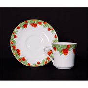 Euland China DSI-001S CS 8-Piece Cup And Saucer Set - Strawberry Garden