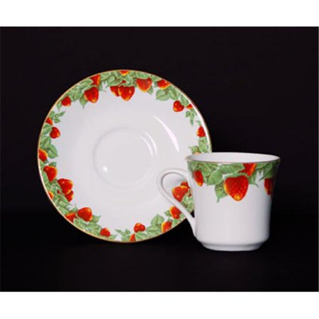 Euland China DSI-001S CS 8-Piece Cup And Saucer Set - Strawberry Garden