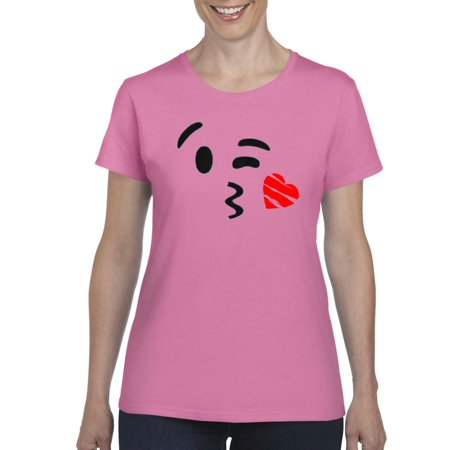 Artix Emojis Winky Face Kissing Heart Birthday Family Gift Match W Hats Jeans Leggings Womens T Shirt Tee Clothes