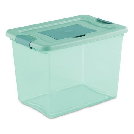 Sterilite, 25 Qt./24 L Fresh Scent Box, Aqua Tint (Available in a Case of 6 or Single Unit)