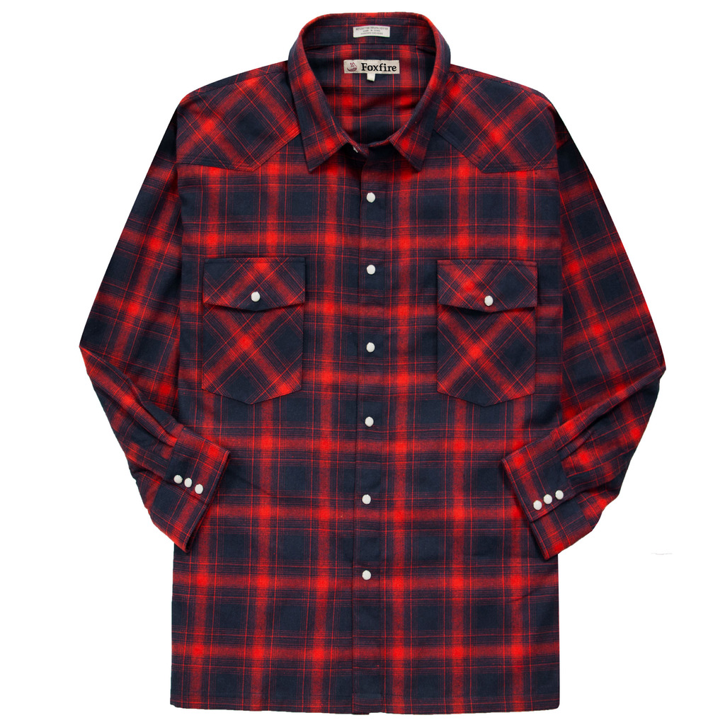 Foxfire Men's Big & Tall Men's WESTERN Flannel Shirt