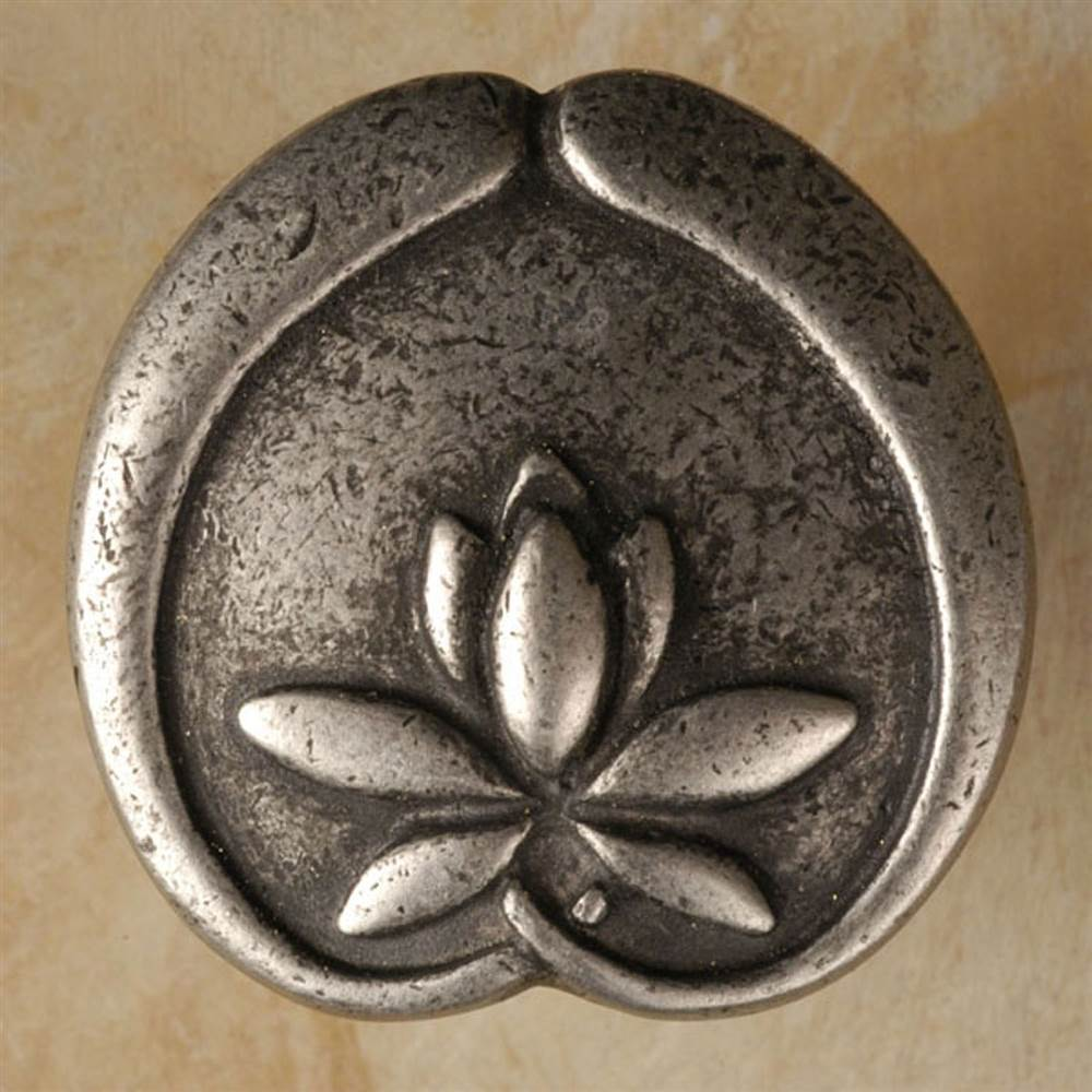 1 1/4' Asian lotus flower knob (Set of 10) (Antique Bronze)