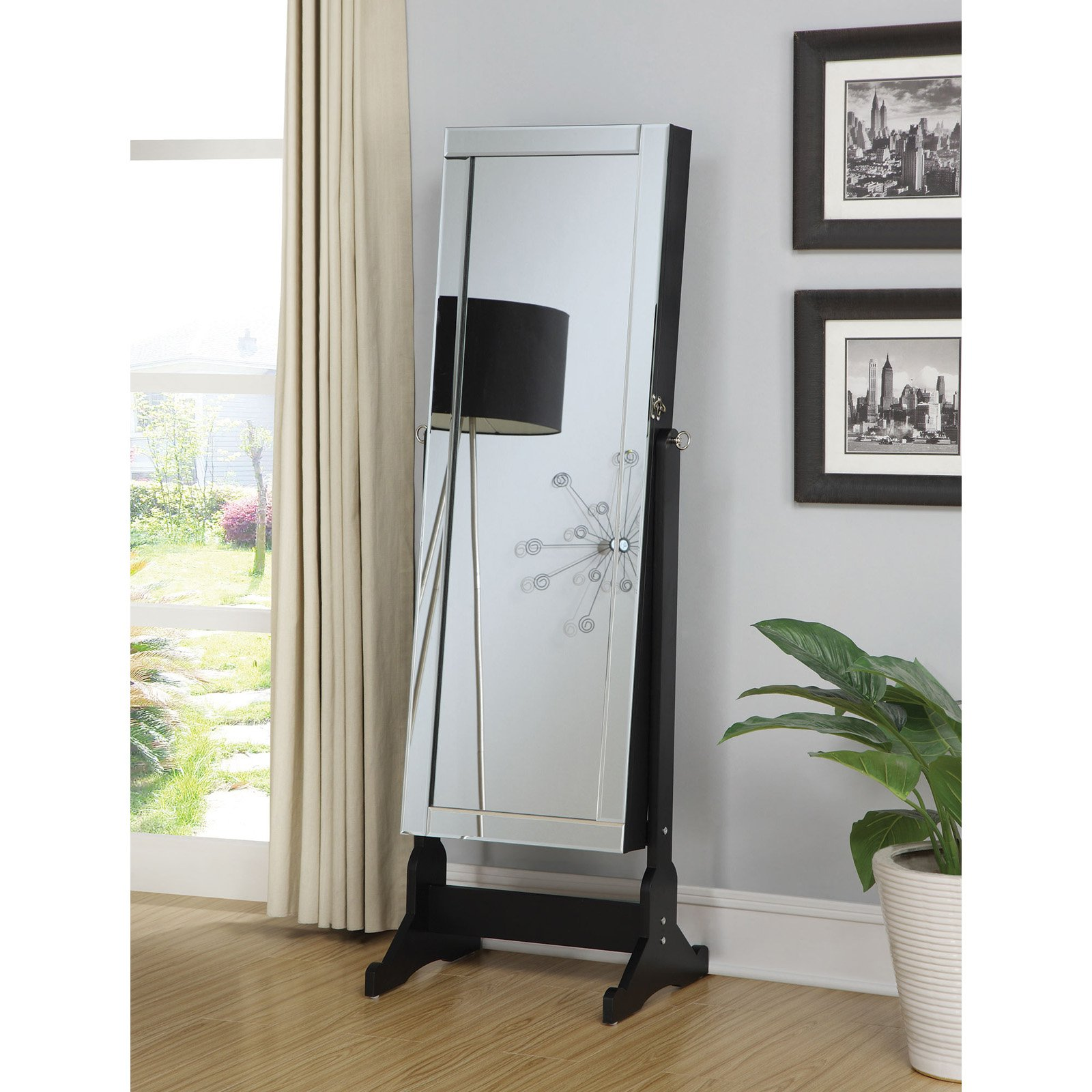 Coaster Furniture Cheval Jewelry Armoire
