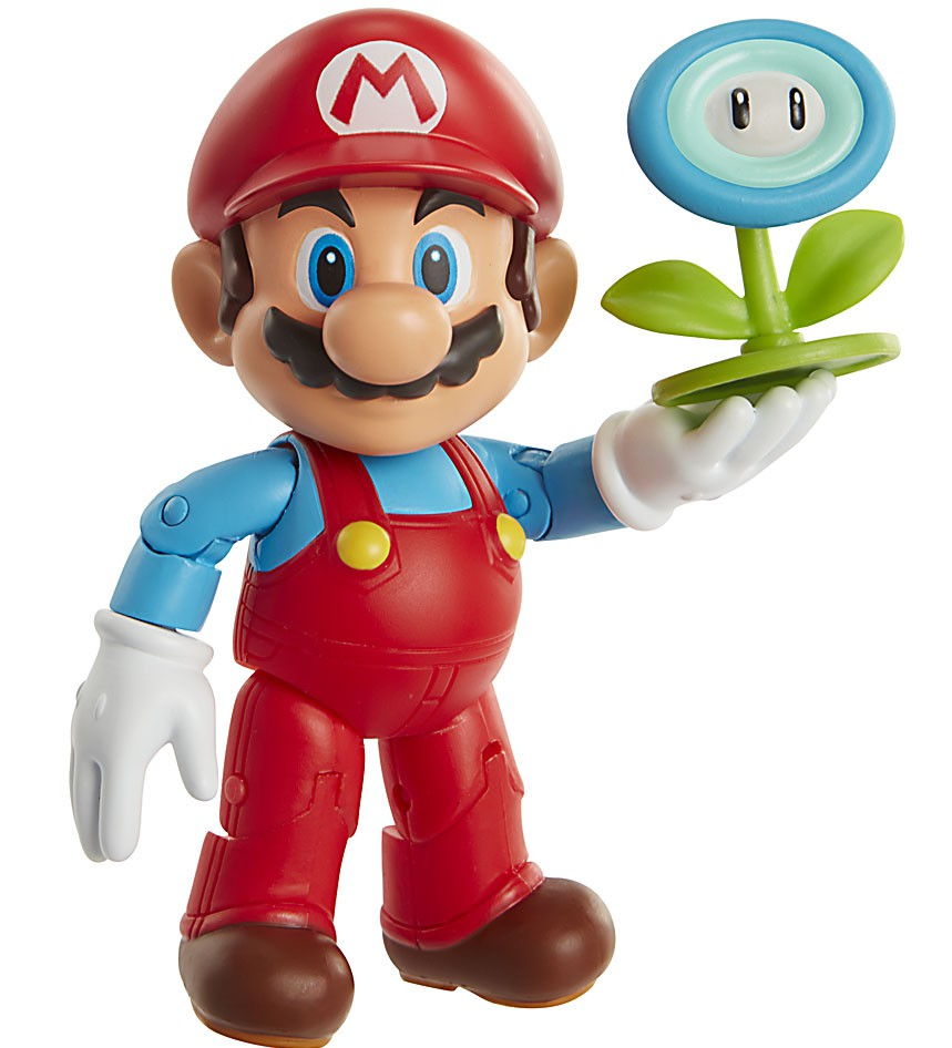 World of Nintendo Ice Mario with Ice Ball Action Figure by