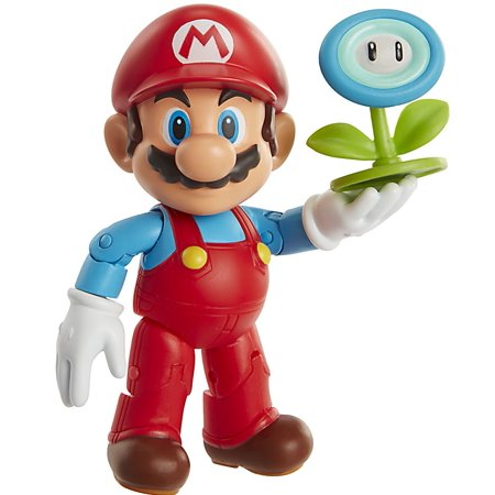 World of Nintendo Ice Mario with Ice Ball Action Figure