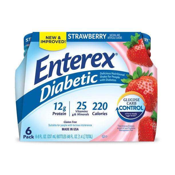 Enterex Diabetic Strawberry 8oz. 6pk