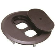 High Impact Thermoplastic Round Duplex Receptacle Floor Box Cover