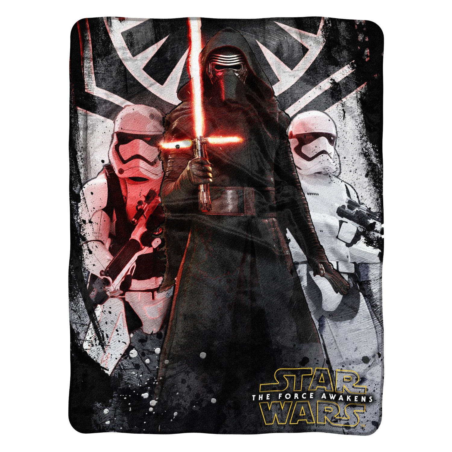 "Star Wars Ep7 First Order 46"" x 60"" Micro Raschel Throw"