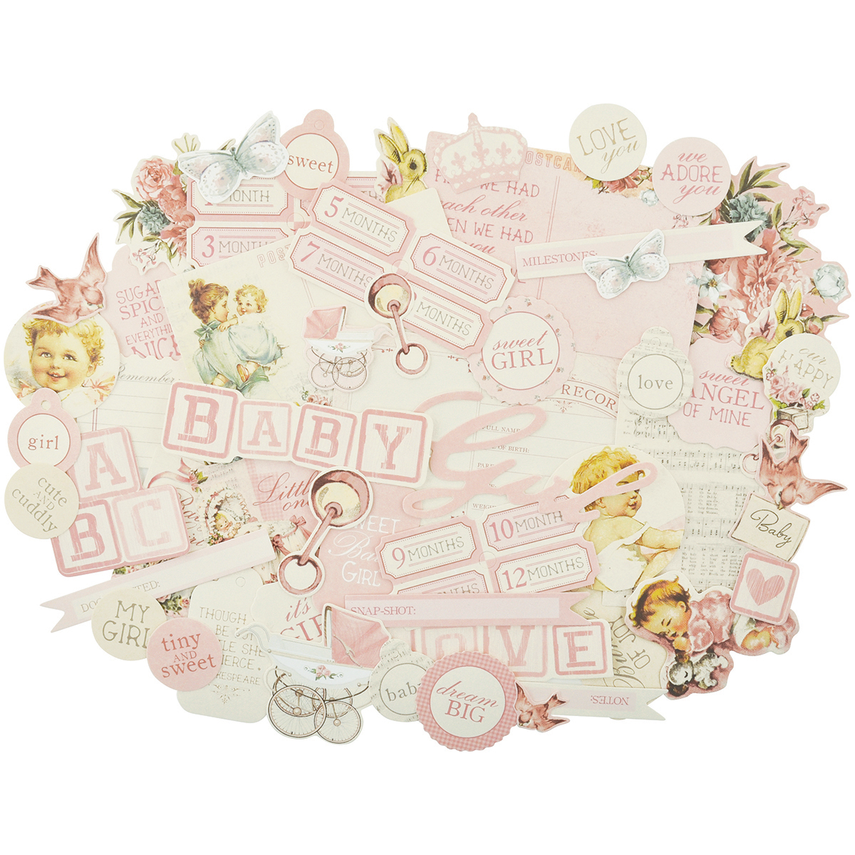 Peek-A-Boo Collectables Cardstock Die-Cuts-Girl