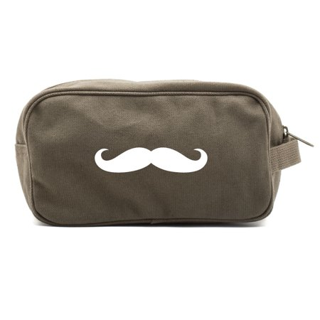 Mustache Canvas Shower Kit Travel Toiletry Bag Case](Italian Mustache)