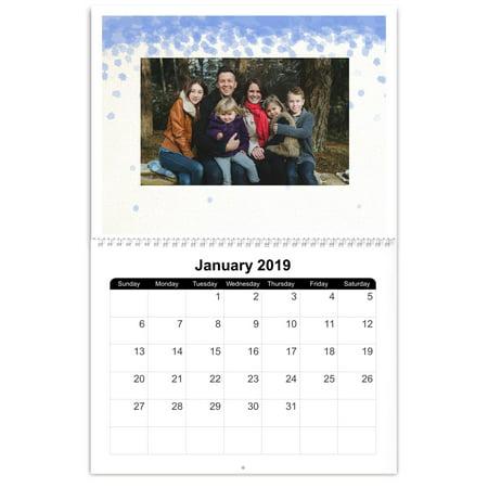 8x11 Photo Calendar, 12 Month - Two Month Wall Calendar