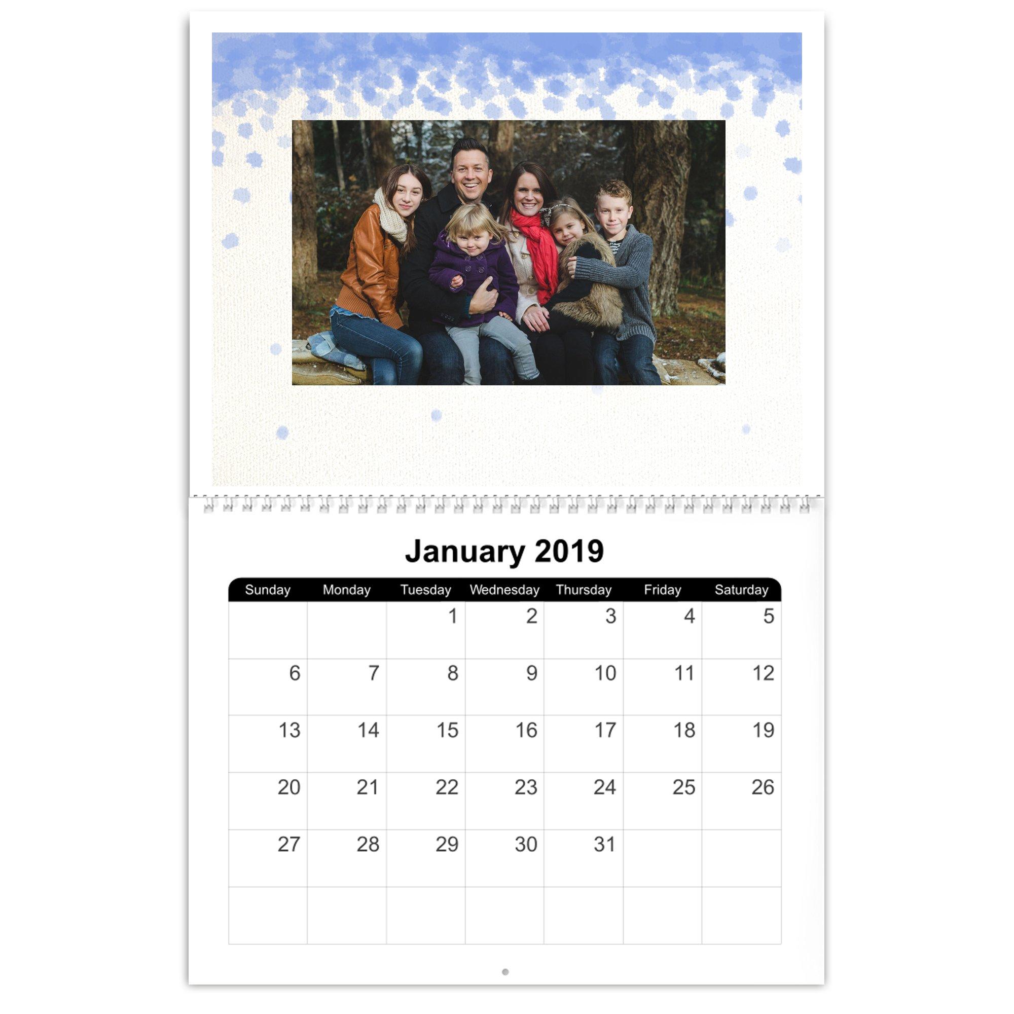 8x11 Photo Calendar, 12 Month