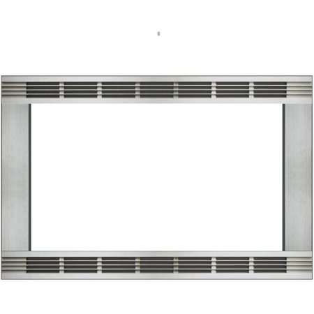 Panasonic 27 In. Wide Trim Kit for Panasonic's 1.5 Cu. Ft. Microwave Ovens - Stainless Steel Panasonic's NN-TK903S 27 In. Wide Trim Kit, in stainless steel, is designed for select Panasonic 1.5 cu. ft. microwave ovens. This built-in trim kit allows you to neatly and securely position select Panasonic microwave ovens into a cabinet or wall space in your kitchen. Kit includes all the necessary assembly pieces and hardware to give your Panasonic microwave oven a custom-finished look.