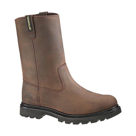 """CAT Footwear Revolver Steel Toe - Brown 10(W) Mens Work Boot"""