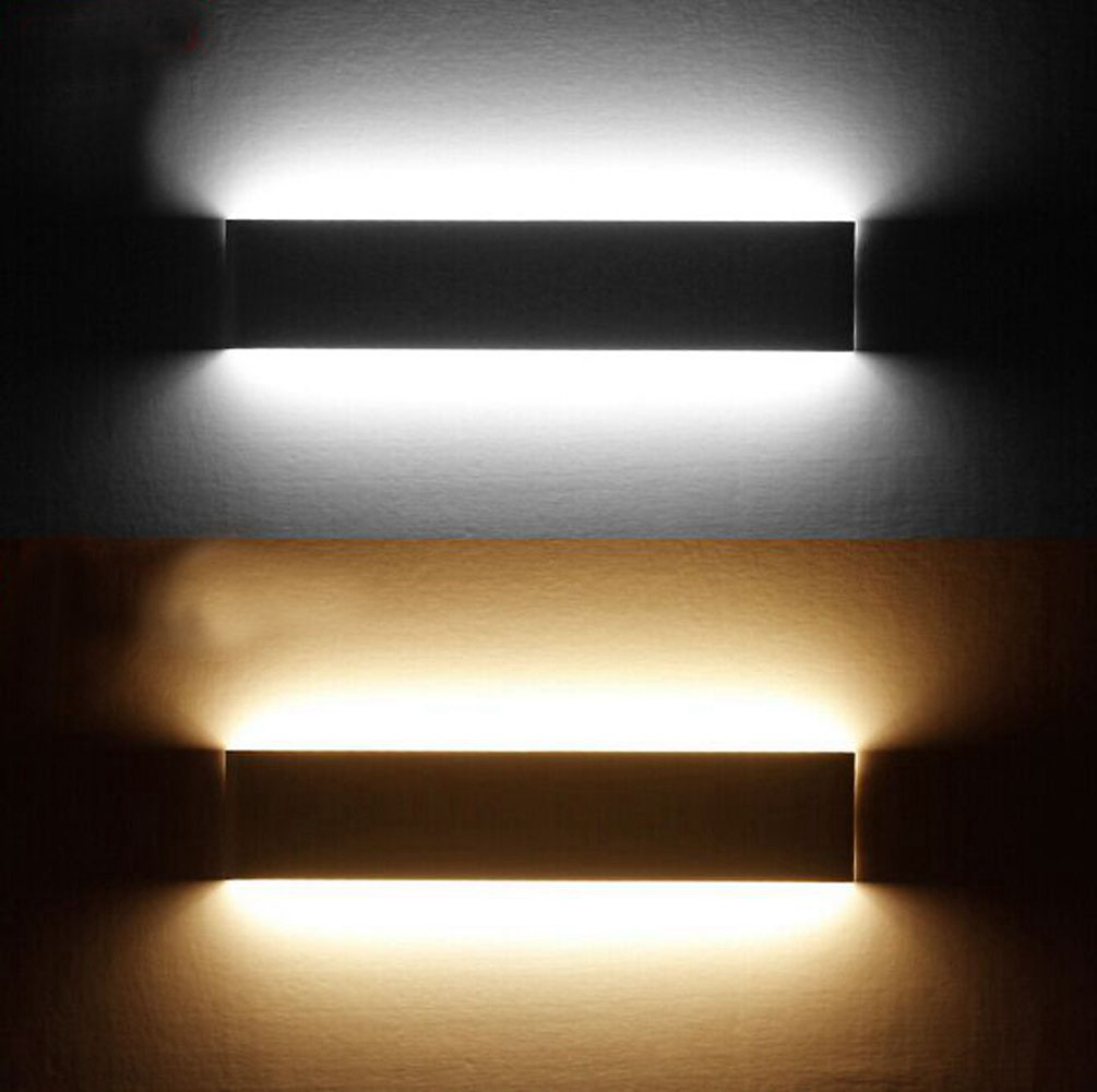 Redcolourful LED Wall Lamp Light Aluminum for Bedside Hallway Bathroom Mirror Light 6W Black White Light by