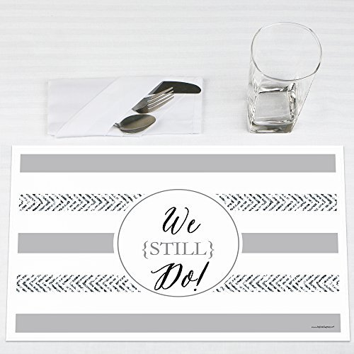 We Still Do Wedding Anniversary Party Placemats Set of 12 by Big Dot of Happiness, LLC