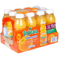Tropicana 100% Orange Juice 12-15.2 fl. oz. Plastic Bottles