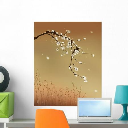 oriental style painting plum wall muralwallmonkeys peel and
