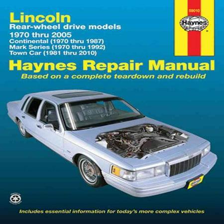 lincoln rear wheel drive automotive repair manual models. Black Bedroom Furniture Sets. Home Design Ideas
