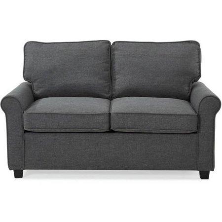 Phenomenal Mainstays Traditional Loveseat Sleeper With Memory Foam Mattress Gray Evergreenethics Interior Chair Design Evergreenethicsorg