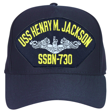 USS Henry M. Jackson SSBN-730 ( Silver Dolphins ) Submarine Enlisted Cap](Micheal Jackson Hats)