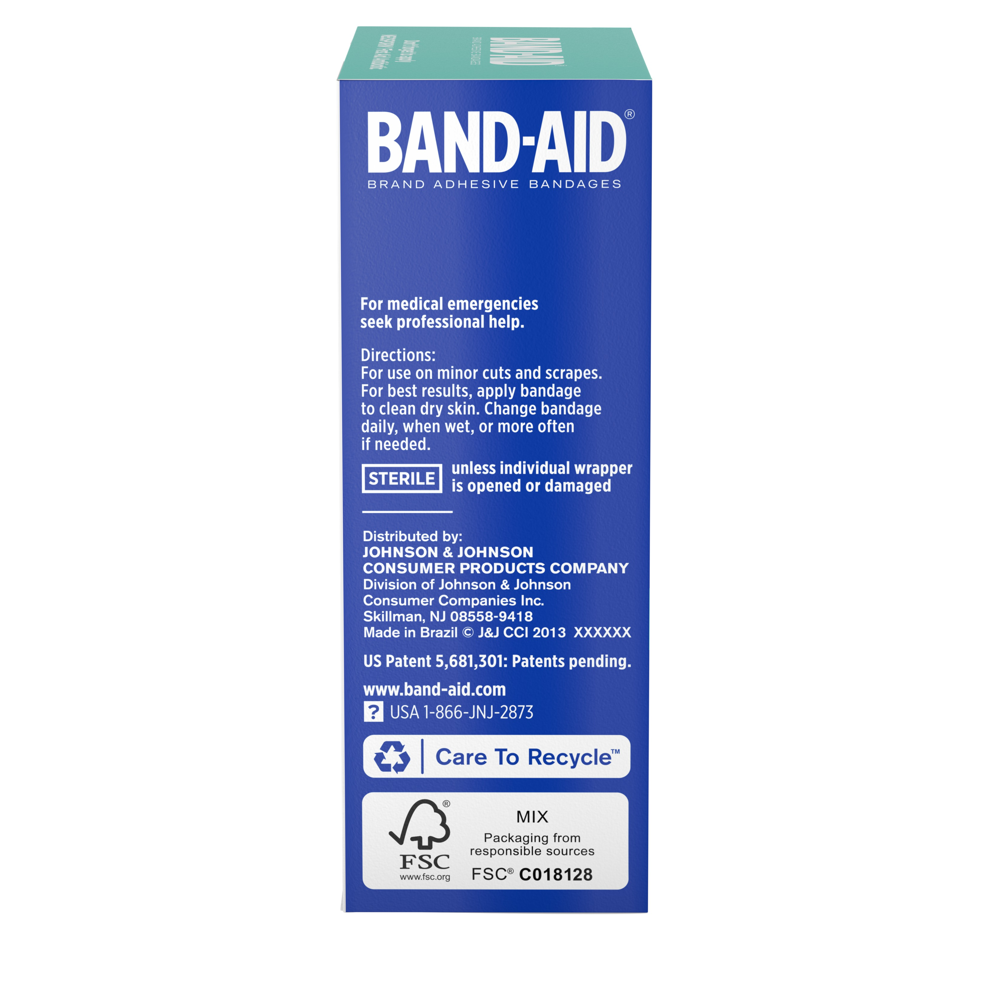 Band-Aid Brand Flexible Fabric Adhesive Bandages, Finger and