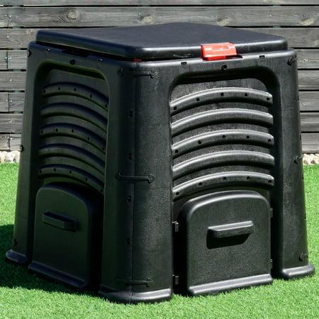 Costway Compost Bin 105 Gallon Garden Waste Bin Grass Food Trash Barrel Fertilizer - Halloween Toxic Waste Barrel
