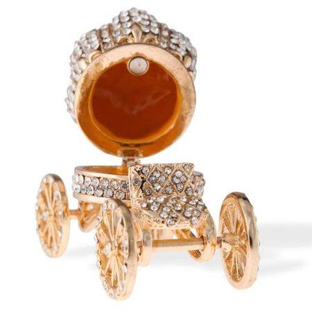 Matashi Crystal Hand Painted Royal Crown Carriage Ornament ()