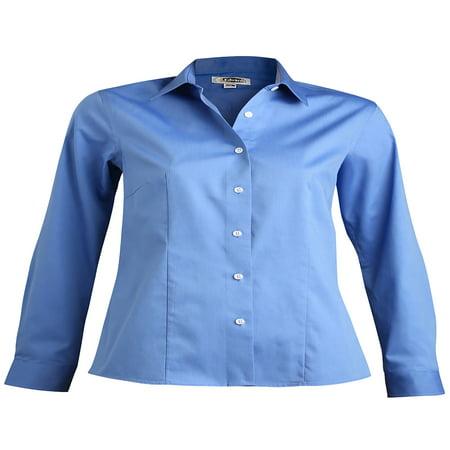 Edwards Garment Women's Point Collar Non Iron Dress Shirt, Style - Brooks Brothers Non Iron Dress Shirt