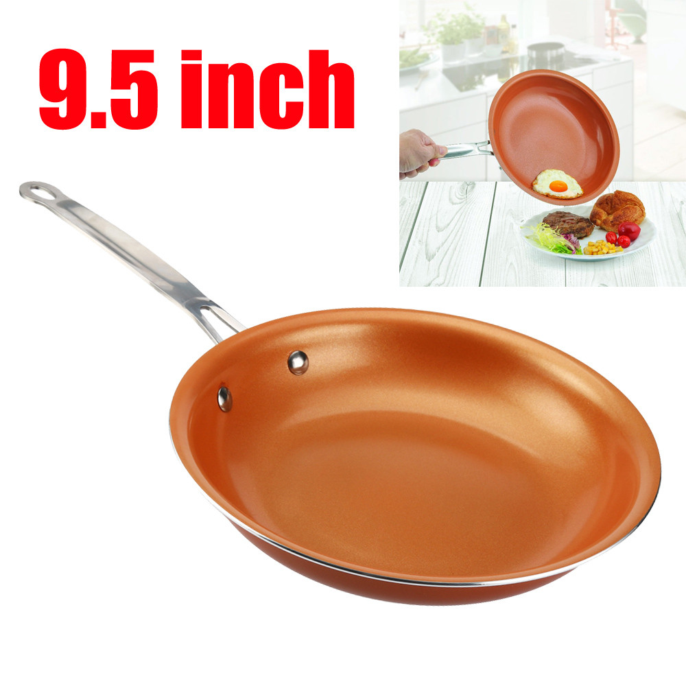 Outtop Non-stick Copper Frying Pan With Ceramic Coating And Induction Cooking Oven Safe