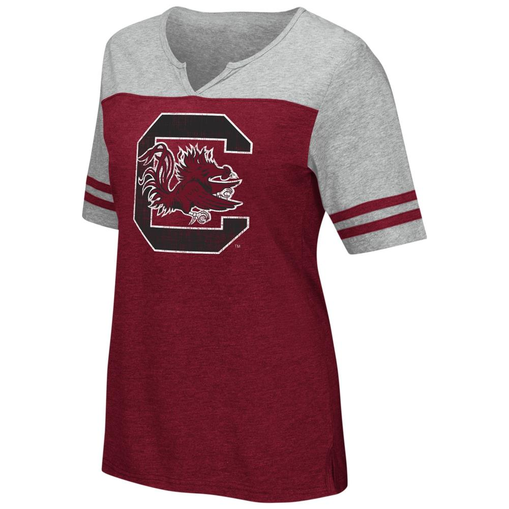 South Carolina Gamecocks V-Neck Tee On A Break Fashion T-Shirt